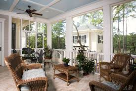 traditional style patio ideas with white screened in porch kit