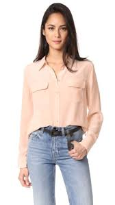 equipment signature blouse slim signature blouse by equipment in