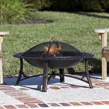wood burning fire table fire sense roman 35 inch wood burning fire pit antique bronze