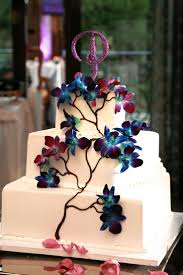 wedding cakes our wedding cake blue dendrobium orchids and