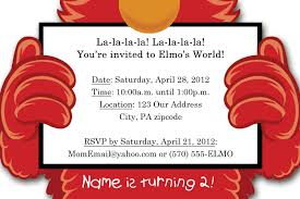 elmo birthday elmo birthday invitations ideas free