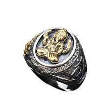 male rings images Genuine 925 sterling silver fortune elephant rings for men yellow jpg