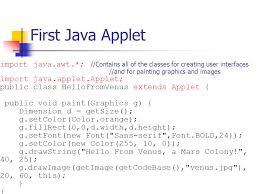 java applets introduction to java and java applets java