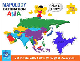 Map Of Asia Countries Buy Imagimake Mapology Destination Asia Map Puzzle Multi Color
