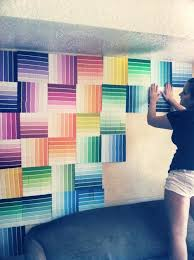 12 fun and colorful diy paint swatch projects impossibly fun