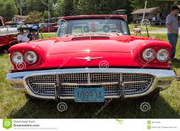 hardtop convertible cars 1960 red ford thunderbird hardtop convertible front view editorial