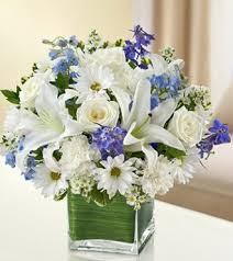 white and blue floral arrangements healing tears blue and white sameday flower delivery