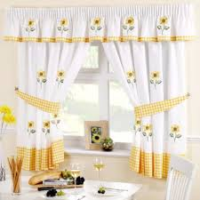 Kitchen Curtains Sunflower Yellow Gingham Kitchen Curtains Ready Made Curtain
