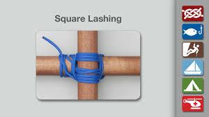 square lashing how to make a square lashing knots