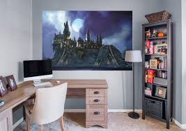 hogwarts castle mural wall decal shop fathead for harry potter hogwarts castle fathead wall mural