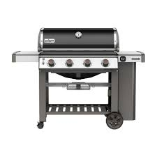 weber genesis ii e 410 4 burner propane gas grill in black with