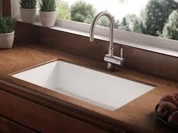 kitchen undermount kitchen sink styles with small pots on marble