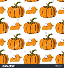 thanksgiving vector art sketch thanksgiving seamless pattern pumpkin slice stock vector