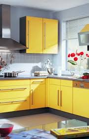 kitchen design and colors small kitchen remodeling ideas accentuated with sunny yellow color