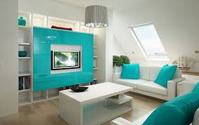 Wall Cabinets For Living Room Living Room With Modern White And Teal Color Scheme Inspirations