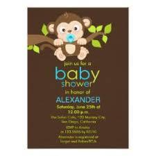 monkey boy baby shower monkey baby shower invitations babyshowerinvitations4u