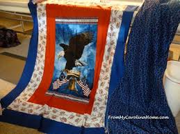 eagle panel quilt of valor from my carolina home