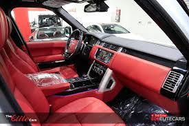 White Range Rover With Red Interior Range Rover Vogue Autobiography Under Warranty The Elite Cars