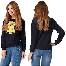 best price on owl printed hoodies pullover price 19 80