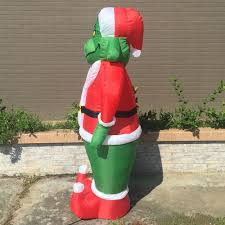 Inflatable Grinch 7 Feet Christmas Decoration Gemmy Christmas Dog