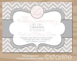 25 years wedding anniversary invitation cards invitation templates