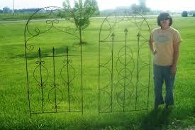 xl wrought iron spear fence trellis 33