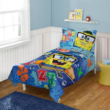 nickelodeon spongebob 4 piece toddler bedding set toys