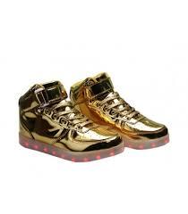 light up shoes gold high top glidekicks mens light up led shoes gold chrome high top sneakers laces