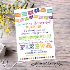 gender reveal fiesta invitation gender neutral mexican senor