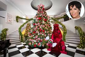 Kris Kardashian Home Decor by Christmas Kris Jenner Shows Off Kandyland Chic Holiday Decorations