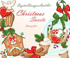 christmas cookies gingerbread house christmas clipart