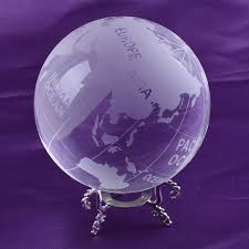 longwin 100mm frosted clear crystal earth globe world globes home