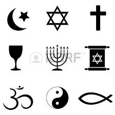 religious symbols around the world icon set royalty free cliparts