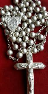 catholic communion gifts vintage silver rosary deco catholic jewelry religious