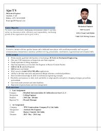 Resume For Mechanical Engineer Mechanical Engineer Cv