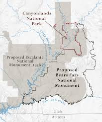 Escalante Utah Map by Canyonlands Grand Canyon Trust