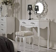 luxury dressing room ideas with ornate round mirror and