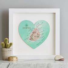 Personalized World Travel Map by Personalised Map Location Heart Wedding Print Gift By Bombus