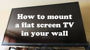 Tv On Wall Ideas by How To Install 60 Inch Flat Screen Tv Stand With Mount To Wall