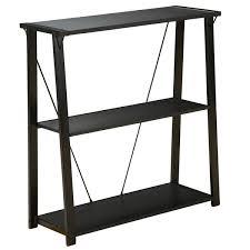 black three shelf bookcase ldnmen com