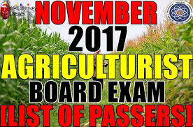 lo que no sab 237 list of passers november 2017 agriculturist board exam results