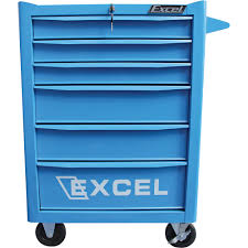 Rolling Tool Cabinets Excel 6 Drawer Rolling Metal Tool Chest U2014 26in W 600 Lb Capacity