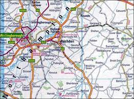 map uk villages rushden research villages index raunds