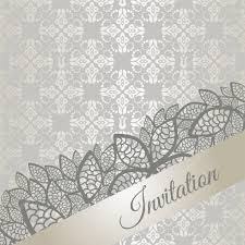 Wallpaper Invitation Card Silver Special Occasion Invitation Card U2014 Stock Vector Lina S