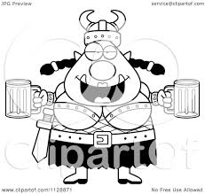 beer vector cartoon of a black and white chubby ogre woman with beer vector