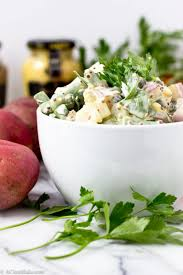 potato salad with whole grain mustard and green beans