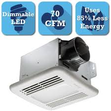 delta breez 80 cfm ceiling exhaust bath fan with dimmable led