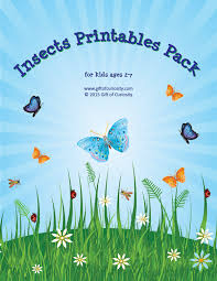 insects printables pack gift of curiosity