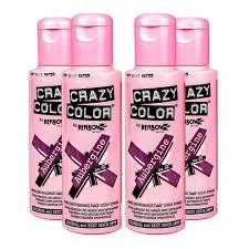crazy colour semi permanent hair dye by renbow aubergine no 50
