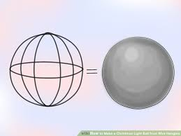 how to make a christmas light ball from wire hangers 11 steps